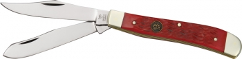 Hen & Rooster Trapper Red Pick Bone knives HR412RPB