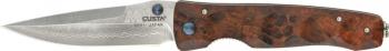 Mcusta Damascus Tactility Quince Wood Handle Linerlock MCU124D