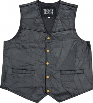 Cheap Misc Leather Vest. Knives MIVXL