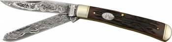 Marbles Trapper Etched Damascus Series knives MR267