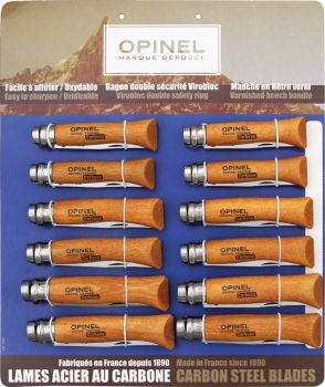 Opinel 12 Pc Carbon Steel Assortment knives OP82085