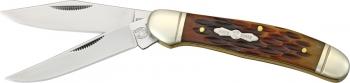 Rough Ryder Copperhead Amber Bone knives RR043