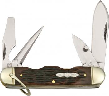 Rough Ryder Camp Knife Amber Bone knives RR533