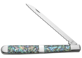 Case Melon Tester Portable Steak Knife Abalone Handle CA56140
