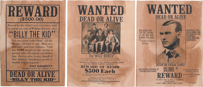 Denix Denix Old West Wanted Posters replicas 095 – Real Wanted Poster