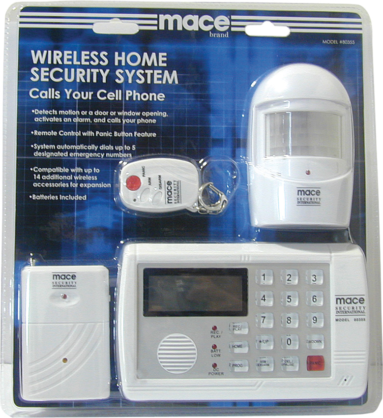 Mace wireless home security system self defense msi80355 for Self security system