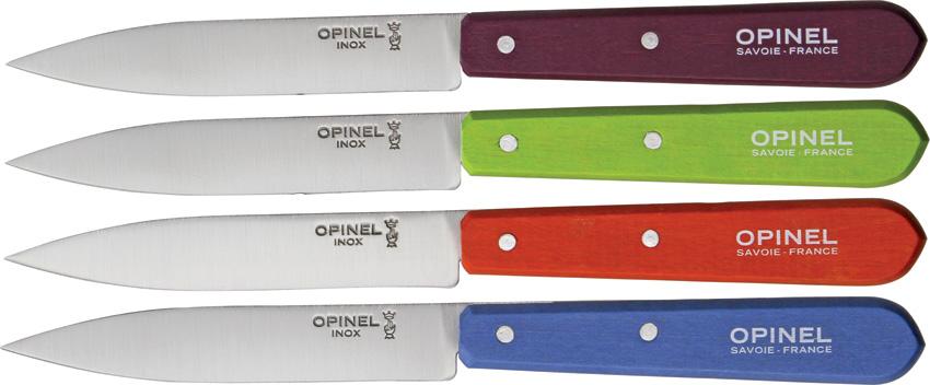 Opinel Four Piece Paring Knife Set knives OP01381