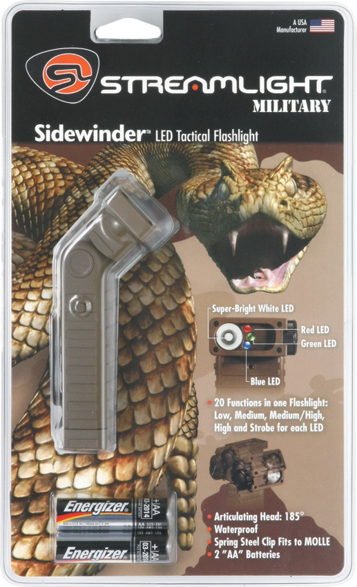 Streamlight Sidewinder Led Tactical Light flashlights STR14002
