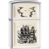 Scrimshaw Ship Emblem Lighter Z010890 Windproof