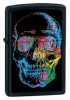 The Zippo Skull Lighter MultiColor Skull Black Case