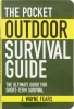 Books Pocket Outdoor Survival Guide - BK186