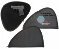 Soft Black Pistol Handgun Case with custom logo embroidery
