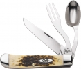 Case Hobo CA052 knife Fork Spoon 6354HBSS Trapper