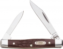 CA083 Small Pen Knife Jigged Brown Delrin 2 5/8in