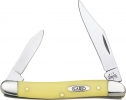 Case Pen Knife Yellow Synthetic Chrome Vanadium