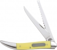 Case Fish Knife Yellow 2 Blade CA120 Sharpening Stone