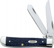 Case CA13006 American Workman 6207SS Jigged Blue Synthetic Mini Trapper Knife