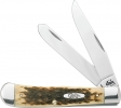 Case Trapper Amber Bone Tru-Sharp Clip & Spey Blades