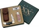 Case Hammerhead Lockback Gift Tin Honing Oil Stone