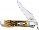 Case Russlock Amber Jigged Bone 61953LS Tru-Sharp