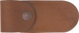Case Soft Leather Brown Belt Sheath Up to 4 inch