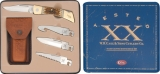 Case XX Changer Gift Set Blue Tin Leather Sheath