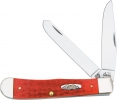 Case Trapper Knife Red Bone HandleTru-Sharp Blades