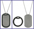 Dog Tag Titanium Knife DT001 Neck Chain 2 x 1 Inch