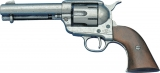 Denix Replica .45 Peacemaker Pewter Army Revolver Pistol 1186/G