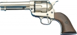 Denix Replica .45 Peacemaker Nickel Army Revolver Pistol 1186/NQ