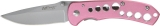 MTECH Pink Anodized Aluminum Linerlock 3 3/8 Inch