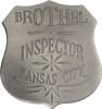 Badges of the  Old West Brothel Inspector Kansas City - MI3004