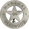 Badges of the  Old West Marshal Deadwood Badge - MI3007
