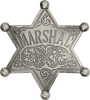 Badges of the  Old West Marshal Badge - MI3008
