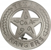 Badges Of The Old West Texas Rangers Badge - MI3011