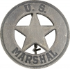 Badges of the  Old West US Marshal Badge - MI3019