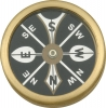 Marbles Large Pocket Compass - MR223