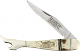 Marbles Scrimshaw Large Lady Leg Knife - MR258