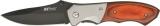 MTech Folder MT411. Pakkawood Black Blade.