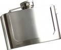 Maxam 3 oz Stainless Steel Flask KTFLASKBKL3