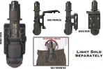 Night Ops Flashlight Holder - NI75GH00BK