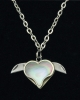 Novelty Cutlery Heart Necklace - NV222