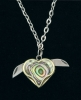 Novelty Cutlery Heart Necklace - NV224