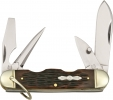 Rough Ryder Camp Knife Amber Bone - RR533