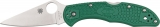 Spyderco SC11FPGR Delica Flat Ground Green FRN