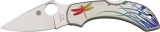 Spyderco Dragonfly Tattoo SC28PT Knife Flat Ground