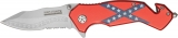 Tac Force Southern Flag Rescue Linerlock - TF663DF