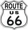 Tin Signs Route 66 Shield - TSN0679