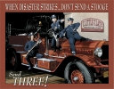 Tin Signs Stooges Fire Dept - TSN1081