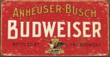 Tin Signs Budweiser Weathered - TSN1283